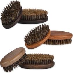 Kartacz do brody z twardym, wzmocnionym włosiem dzika, mały i poręczny buk - jasny brąz