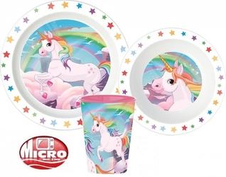 Zestaw naczyń obiadowy unicorn jednorożce