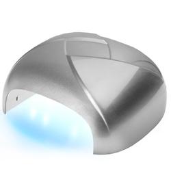 Lampa twister uv dual led 36w timer + sensor srebrna