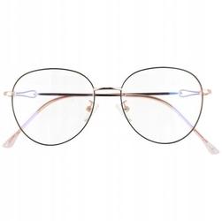 Okulary lenonki z filtrem blue light do komputera zerówki 2540-3