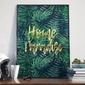 Plakat w ramie - home paradise , wymiary - 50cm x 70cm, ramka - czarna