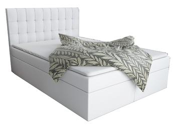 Łóżko kontynentalne Patrycja z pojemnikami