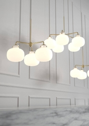 Design for the people :: lampa wisząca raito 3 klosze mosiężna