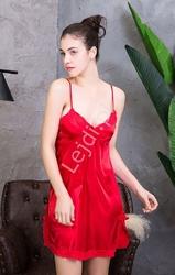 Czerwona nocna koszulka satynowa 474