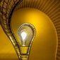 Praga, schody - plakat premium wymiar do wyboru: 80x60 cm