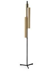 Lzf :: lampa podłogowa black note triplet led brązowo-czarna wys. 188 cm