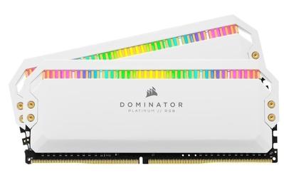 Corsair pamięć ddr4 dominator 16gb3200 28gb white rgb cl16