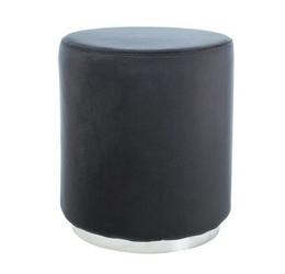 Puf welurowy frida czarno-srebrny