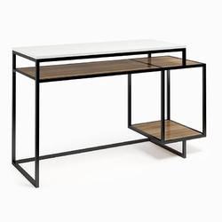 Nowoczesne biurko z kontenerkiem connect steel quatrie 130 cm