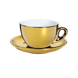 Filiżanka ze spodkiem do cappuccino złota roma cilio
