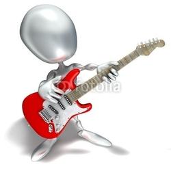 Naklejka samoprzylepna elliott 014, gitarzysta, muzyka, gitara