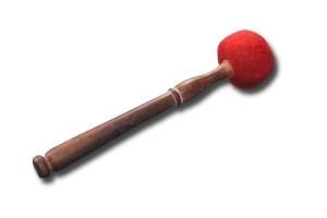 Toczona filcowa pałka - czerwona rozmiar xs