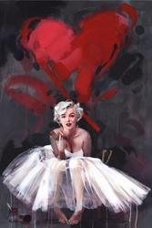 Marilyn monroe james paterson paint - plakat