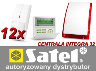 Zestaw alarmowy satel integra 32, klawiatura lcd, 12 czujników ruchu, sygnalizator zewnętrzny sp-4003 - możliwość montażu - zadzwoń: 34 333 57 04 - 37 sklepów w całej polsce