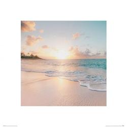 Poranek na plaży - reprodukcja
