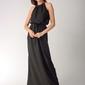 Czarna maxi sukienka z dekoltem typu halter