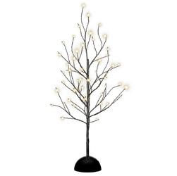 Drzewko czarne 48 led deko ciepłe białe światło  60 cm