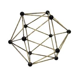 Hkliving ozdoba z mosiądzu o kształcie molekularnym aoa9944