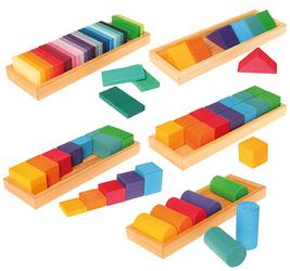 Zestaw do budowania kształtów i kolorów 3+, Grimms