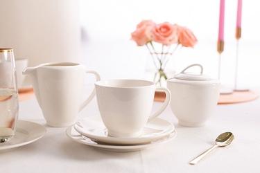 Serwis  zestaw kawowy na 6 osób porcelana mariapaula nova ecru 20 elementów