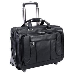 Skórzana torba męska biznesowa 2w1 mcklein west town 15705 - czarny
