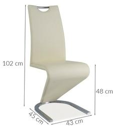 Krzesło tapicerowane do jadalni tilly kremowe ekoskóra