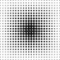 Plakat na papierze fotorealistycznym tło czarne kropki półtonów