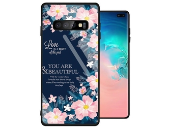 Etui alogy glass armor case do samsung galaxy s10 plus kwiaty - kwiaty