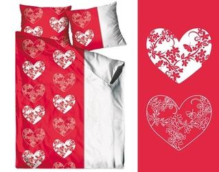 Love me czerwona pościel bawełniana greno