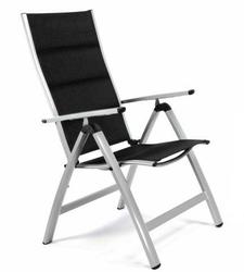 Zestaw 2 krzeseł ogrodowych składane czarne
