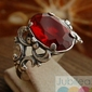 Ravena - srebrny pierścionek z rubinem