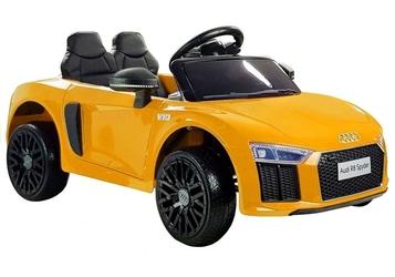 Auto na akumulator audi r8 spyder m żółty + pilot