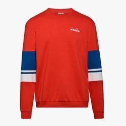 Bluza męska diadora crewneck sweat logo - czerwony