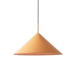 Hkliving lampa wisząca triangle metalowa brzoskwiniowa mat, rozm l vol5060