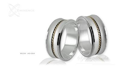 Obrączki srebrne - wzór ag-094