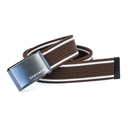 Brązowo biały pasek do spodni parcianka brodrene p07 graphite