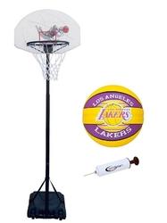 Zestaw kosz do koszykówki spartan mobilny + piłka spalding lal +pompka