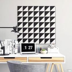 Czarno-białe trójkąty - designerski obraz na płótnie , wymiary - 70cm x 70cm