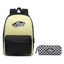 Plecak szkolny vans realm lemon tonic checkerboard + piórnik