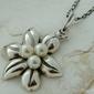 Misteria - srebrny wisiorek z perłami