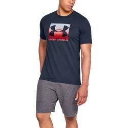 Koszulka męska under armour boxed sportstyle ss - granatowy