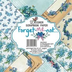Papier do scrap. 20,3x20,3 Forget-me-not 18 szt.