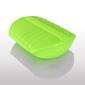 Naczynie żaroodporne z tacą, średnie - zielone - średni