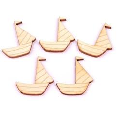Drewniane elementy do rękodzieła - łódka 27x30 mm - ł27