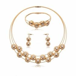 ZESTAW biżuterii ZŁOTY kółeczka ELEGANCKI