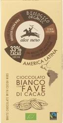 Alce nero | czekolada biała z kawałkami kakao 100g | organic - fairtrade