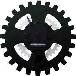 Zegar ścienny obracające zębatki moving gears nextime 35 cm, czarny 3241 zw