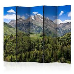 Parawan 5-częściowy - holiday in the mountains ii room dividers