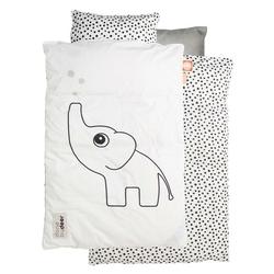 Pościel niemowlęca dots 100x70 + 45x40 - biała