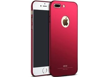 Etui msvii thin case apple iphone 7 plus z wycięciem czerwone - czerwony